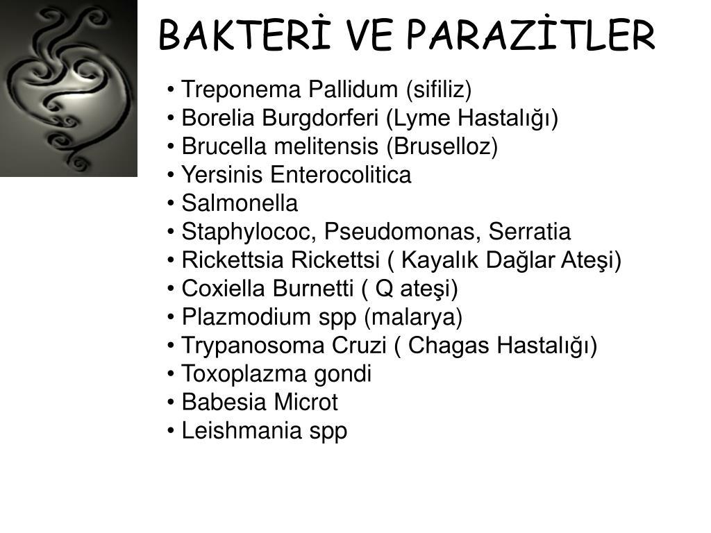 BAKTERİ VE PARAZİTLER
