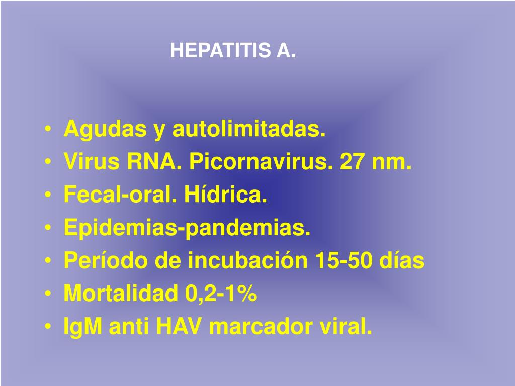 HEPATITIS A.