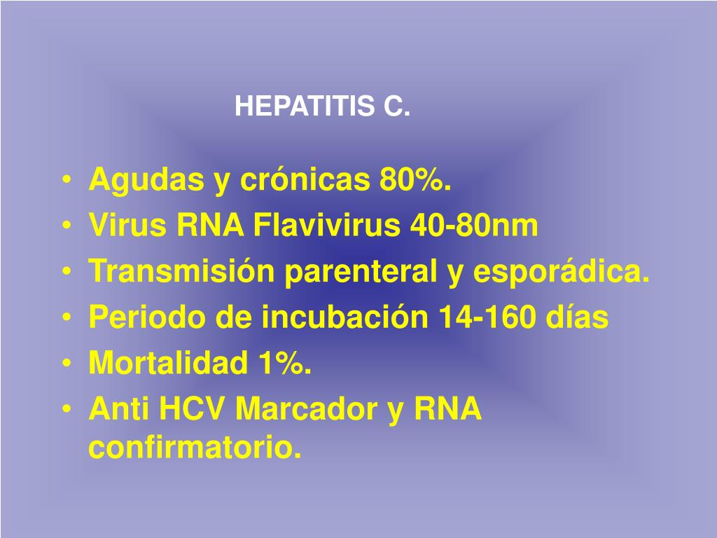 HEPATITIS C.