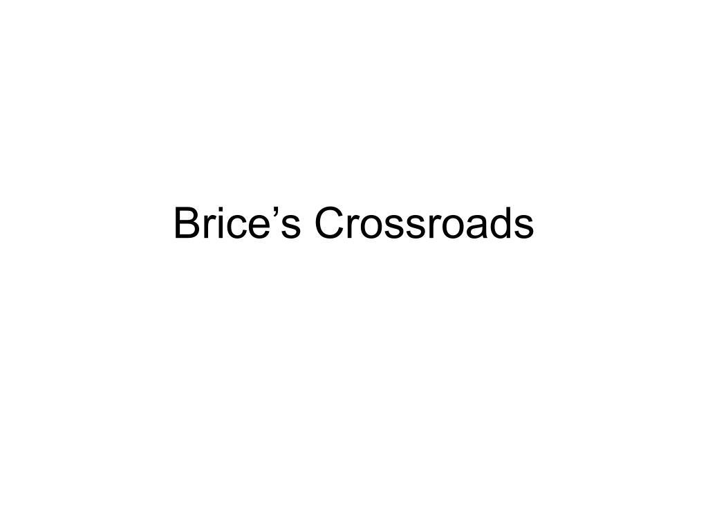 Brice's Crossroads