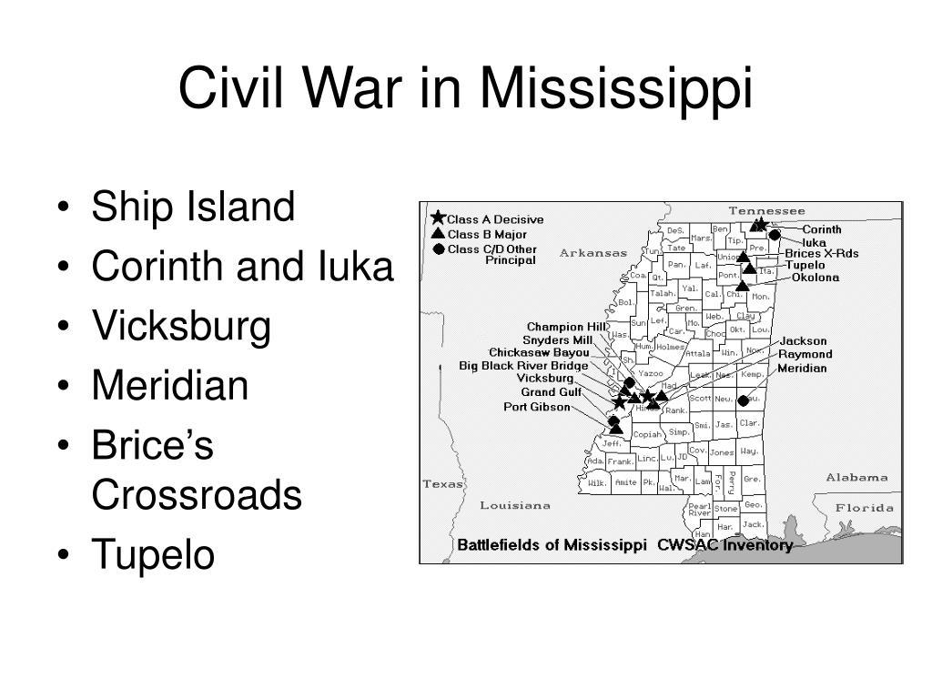 Civil War in Mississippi