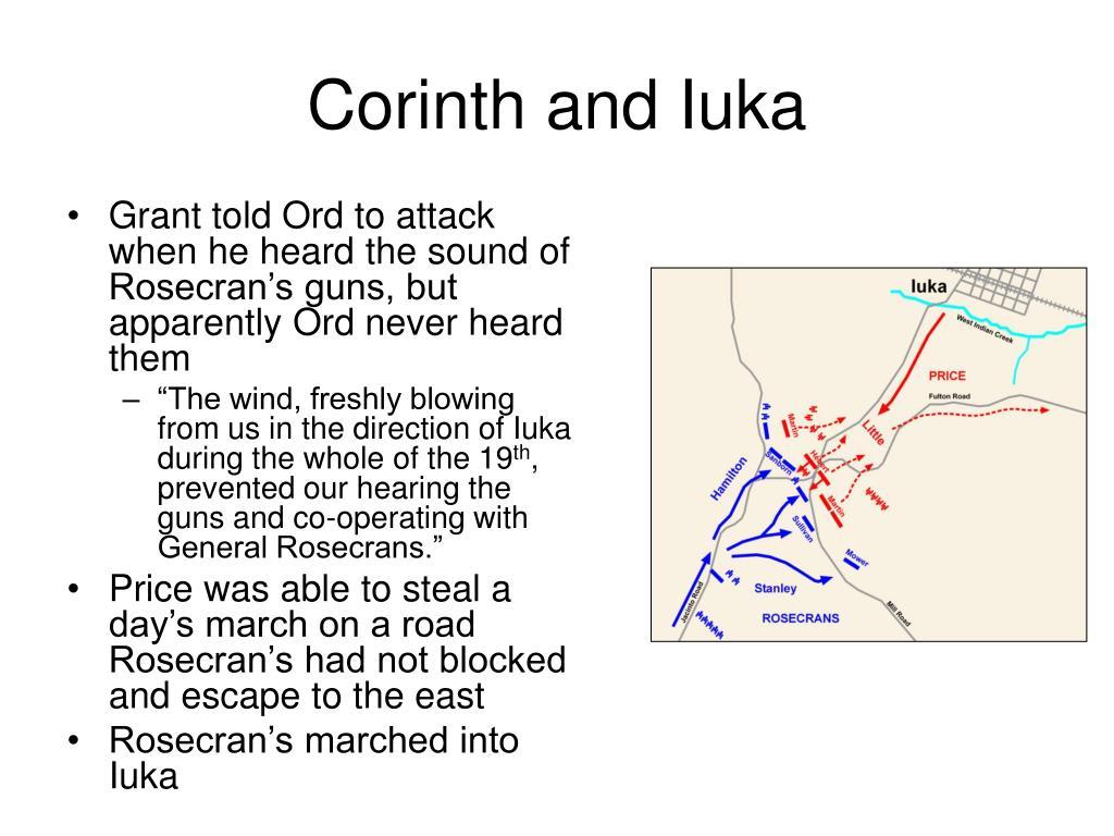 Corinth and Iuka
