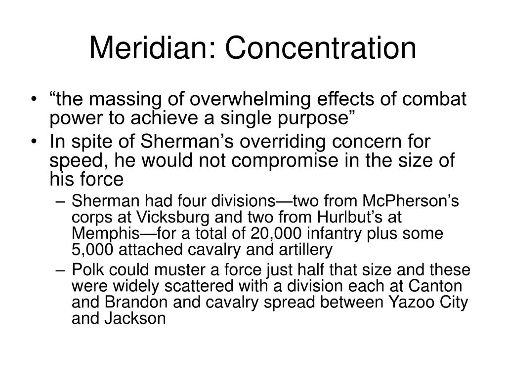 Meridian: Concentration