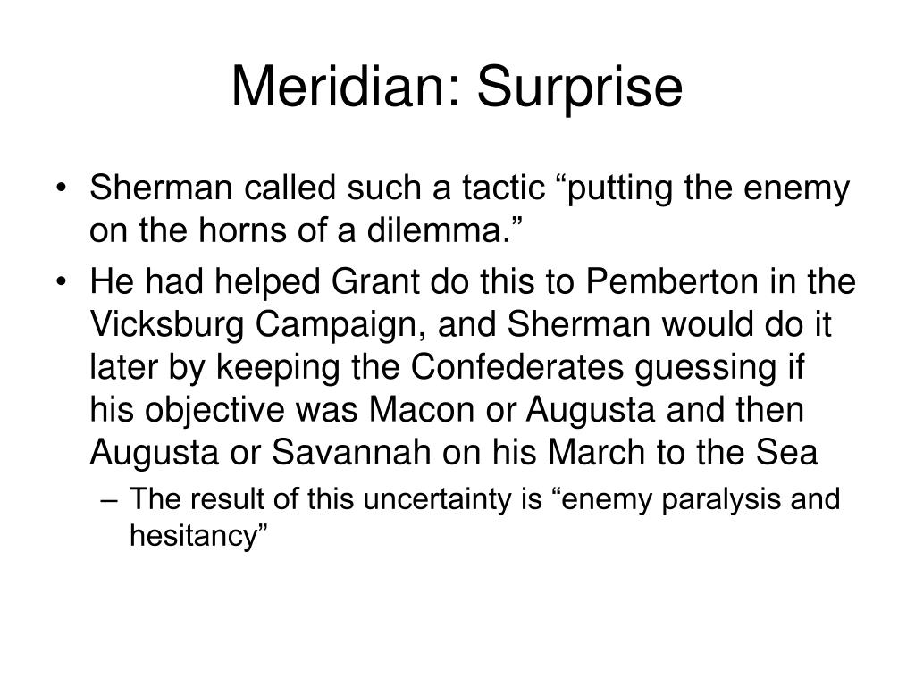 Meridian: Surprise