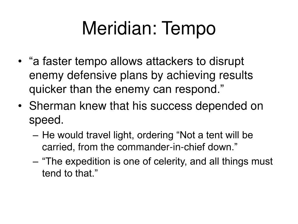 Meridian: Tempo