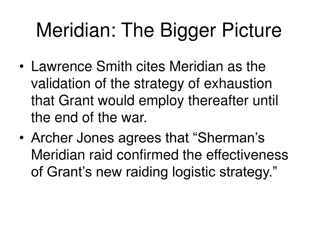Meridian: The Bigger Picture