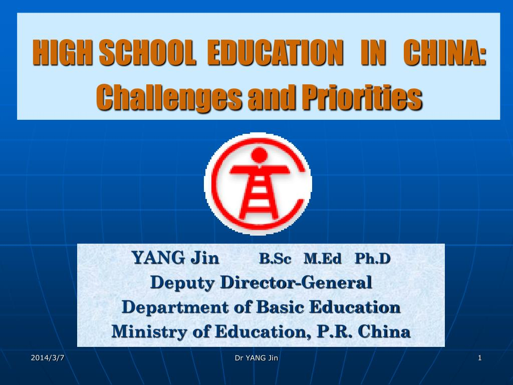 HIGH SCHOOL  EDUCATION   IN   CHINA