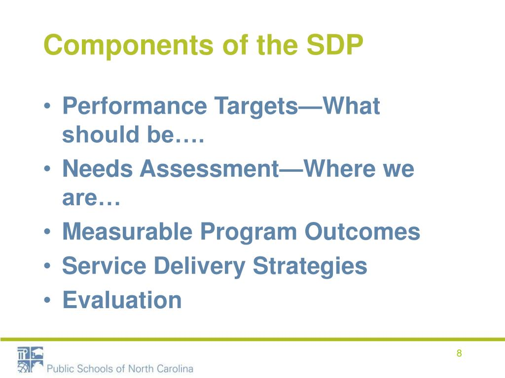 Components of the SDP