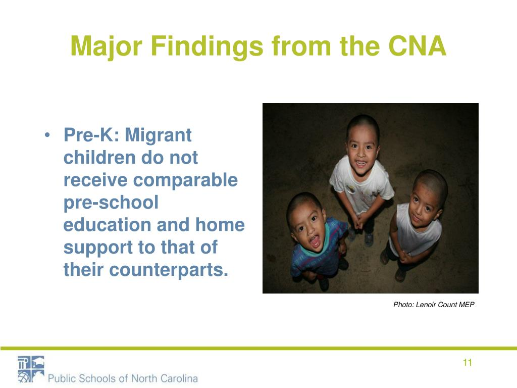 Major Findings from the CNA