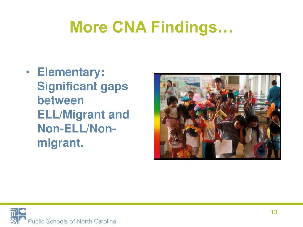 More CNA Findings…