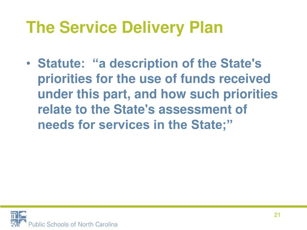The Service Delivery Plan