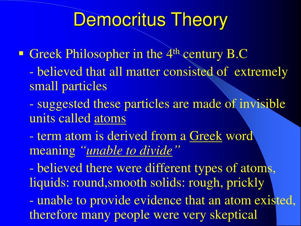 Democritus Theory