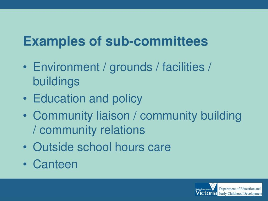 Examples of sub-committees