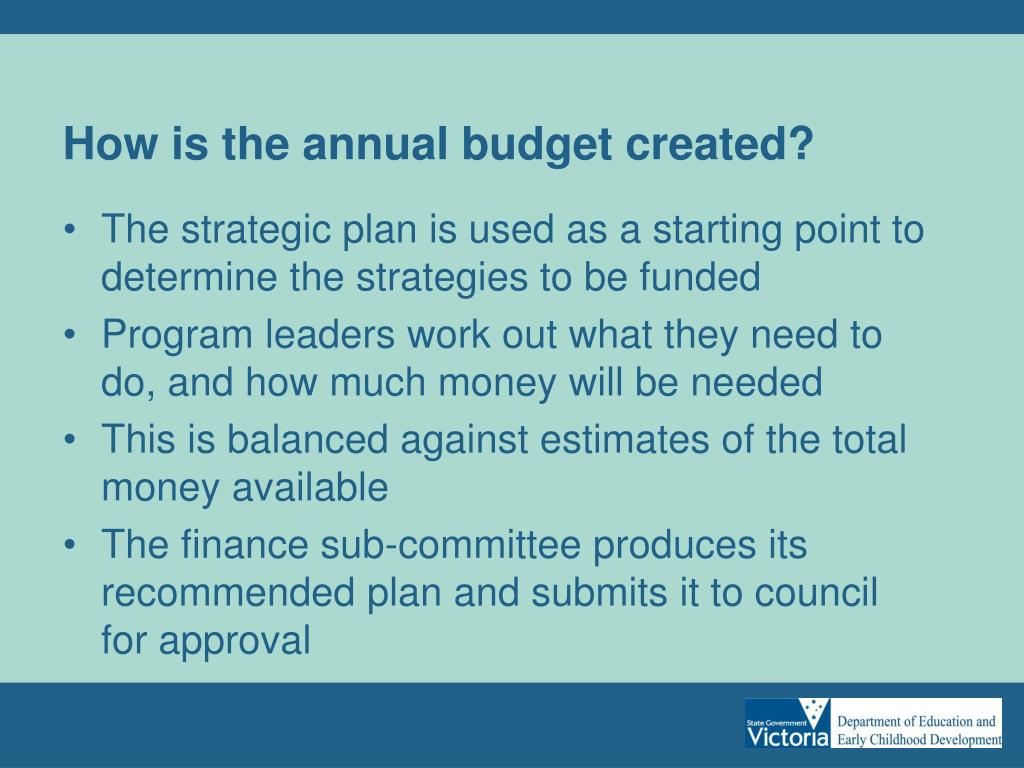 How is the annual budget created?