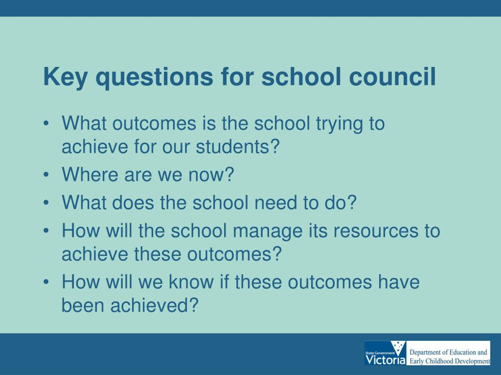 Key questions for school council