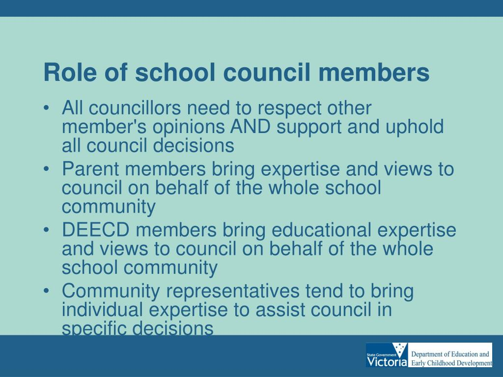 Role of school council members