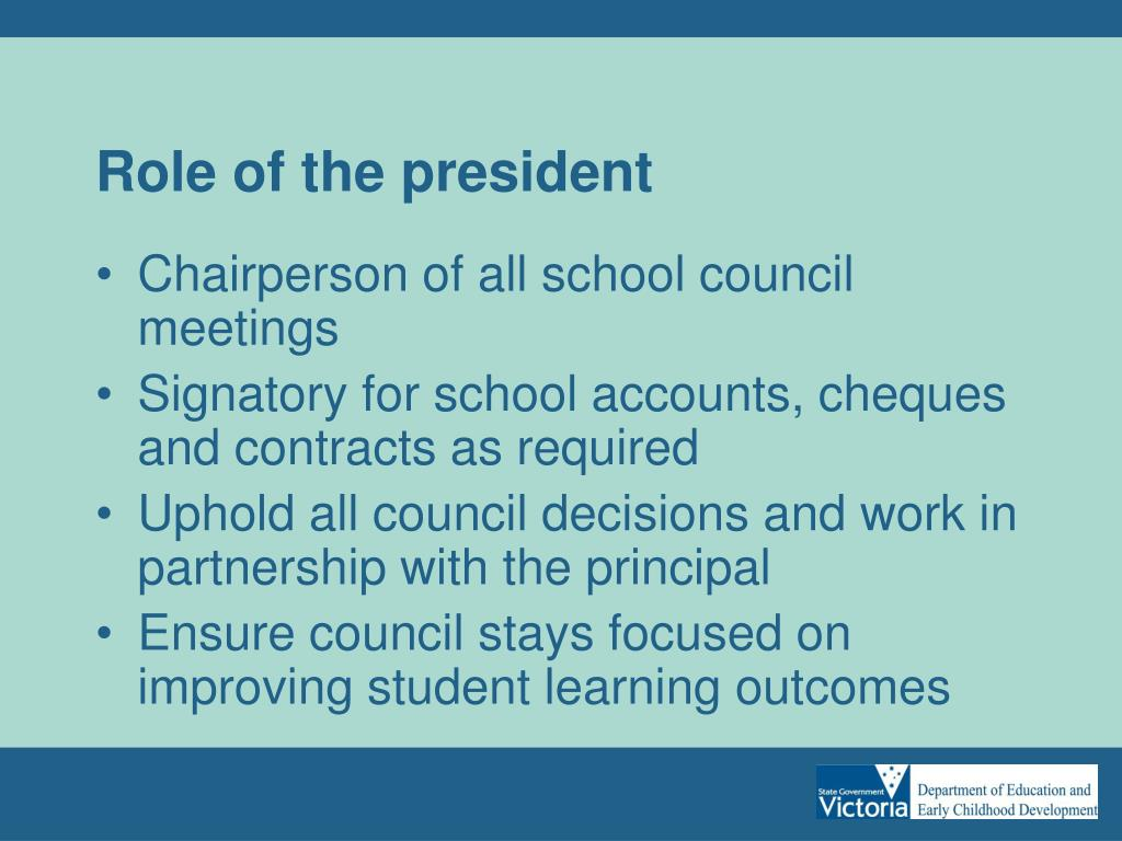 Role of the president