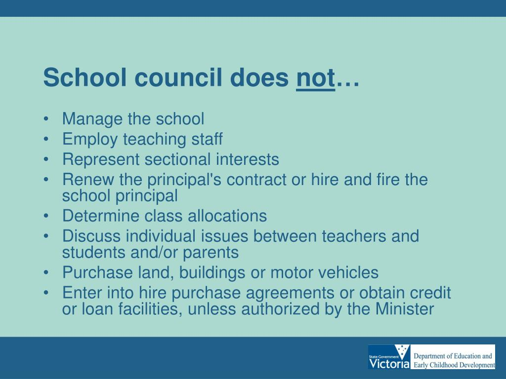 School council does
