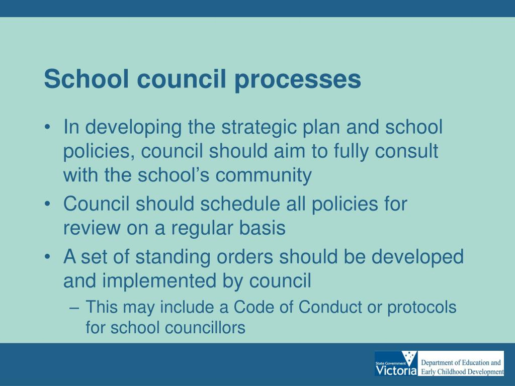 School council processes