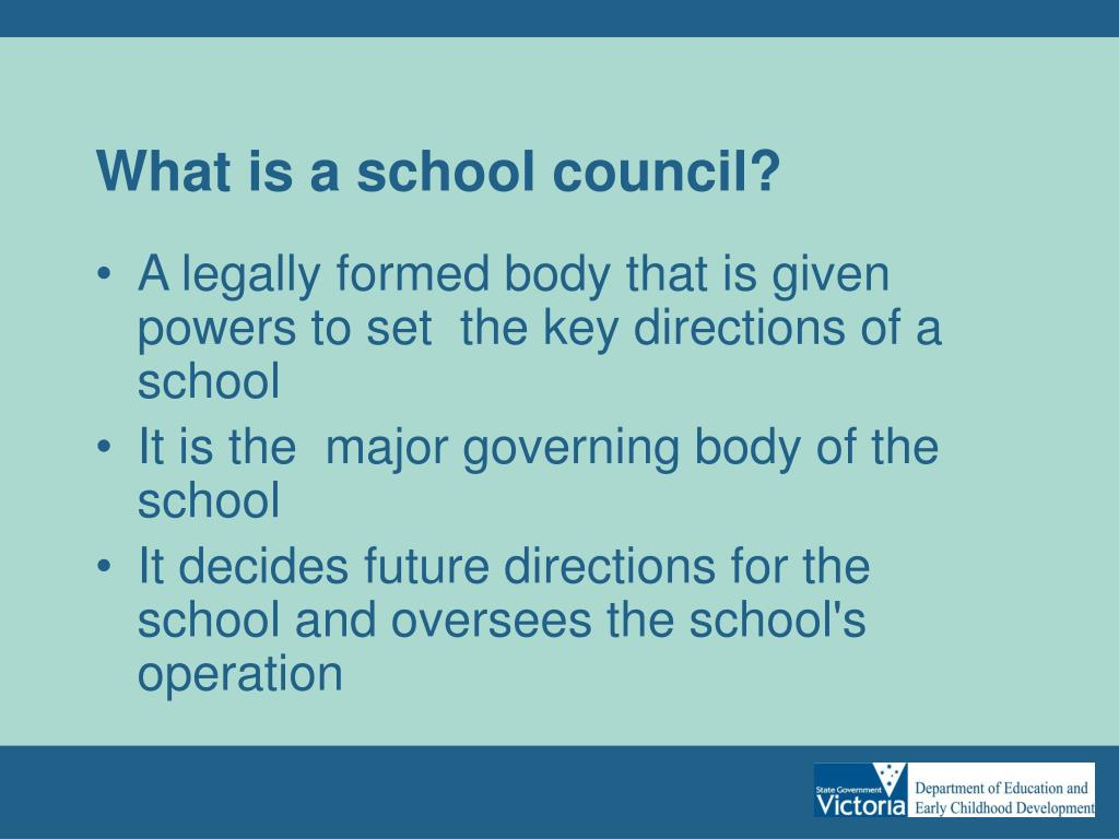 What is a school council?