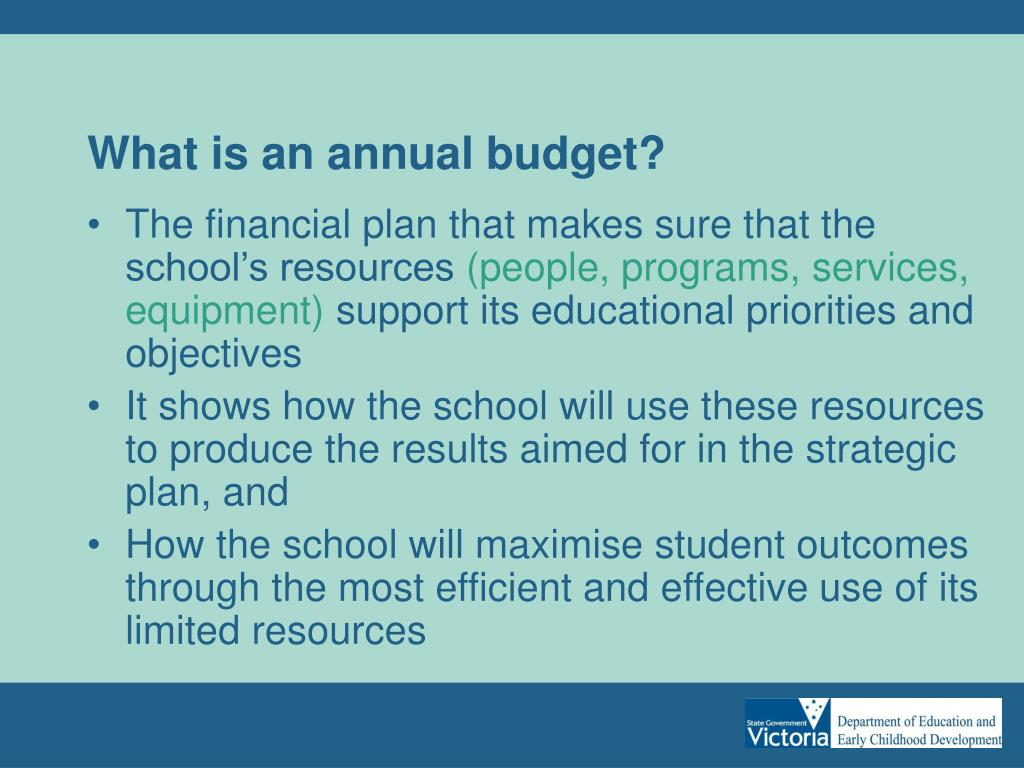 What is an annual budget?