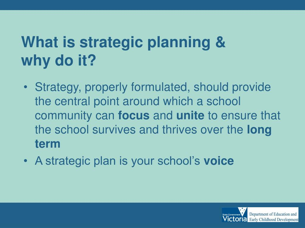 What is strategic planning &
