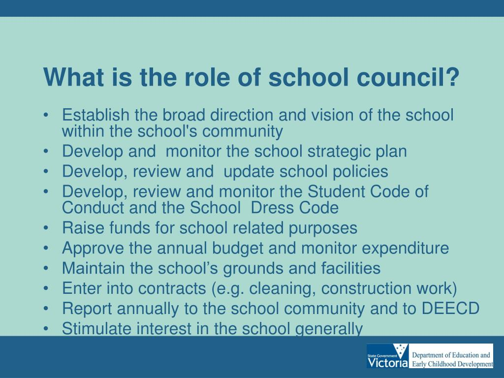 What is the role of school council?