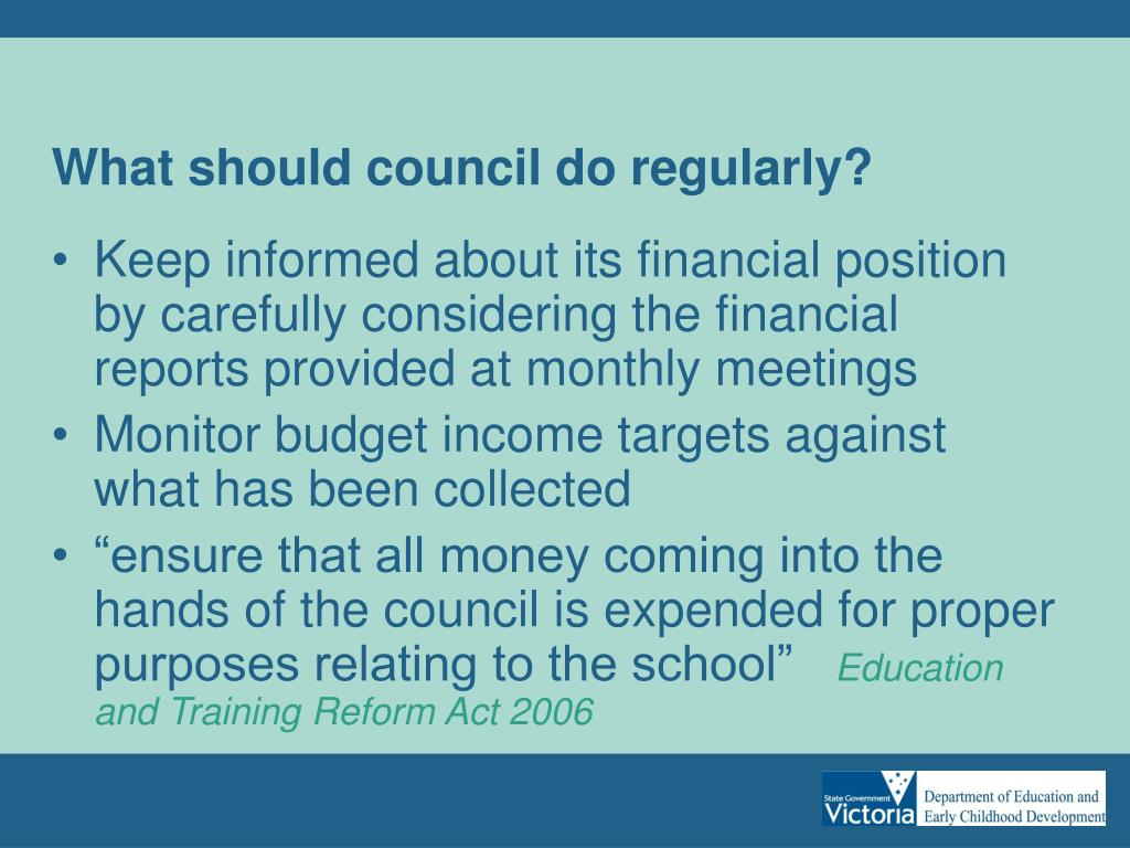 What should council do regularly?