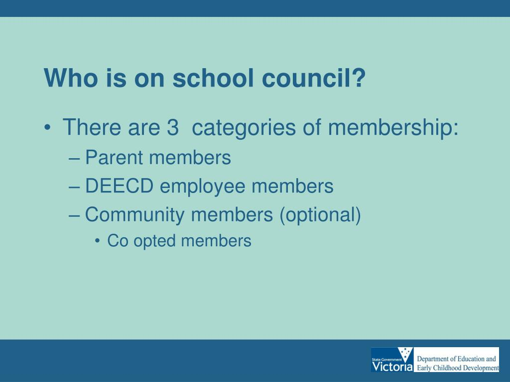 Who is on school council?