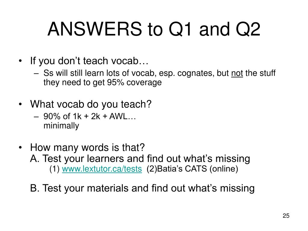 ANSWERS to Q1 and Q2