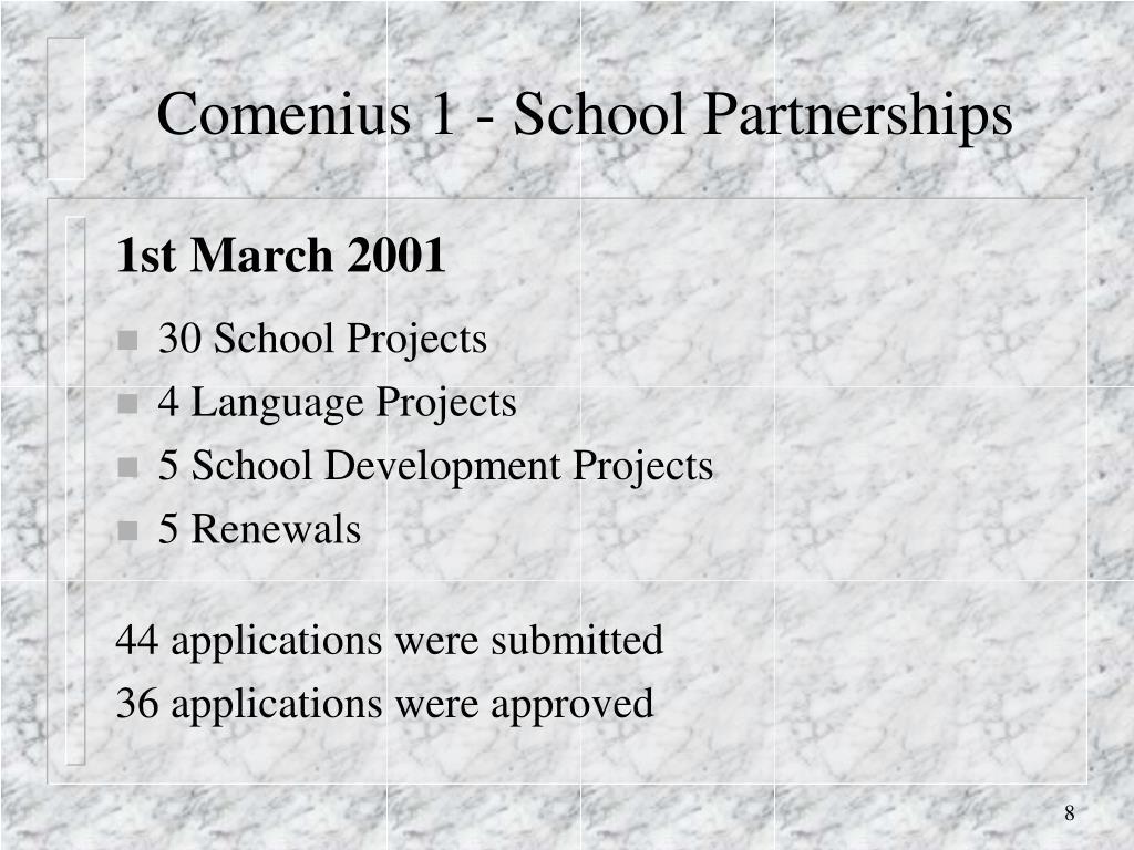 Comenius 1 - School Partnerships