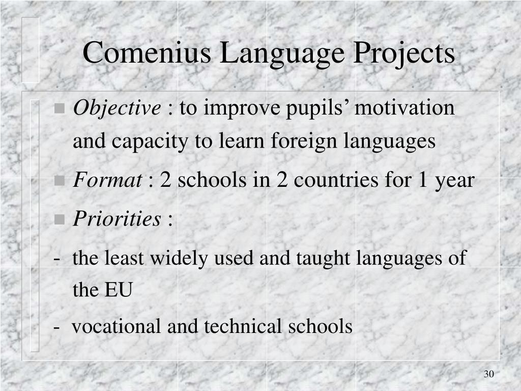 Comenius Language Projects