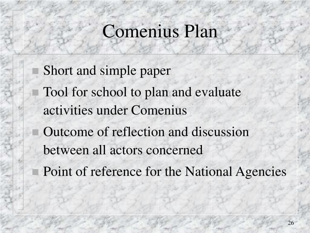 Comenius Plan