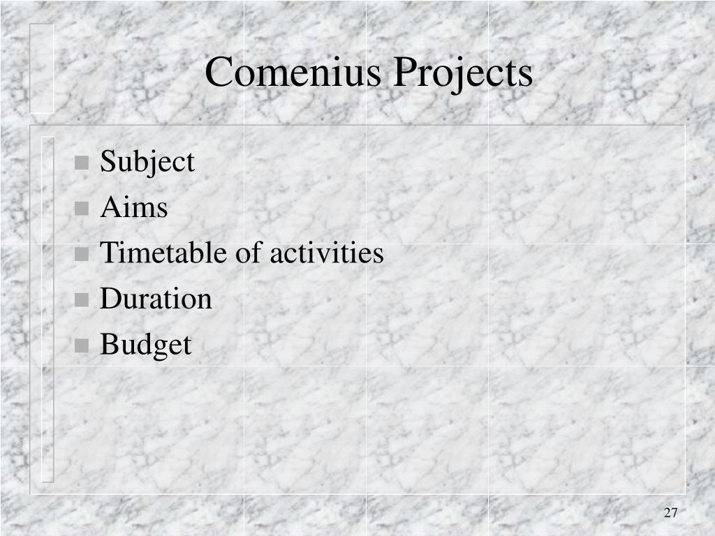 Comenius Projects