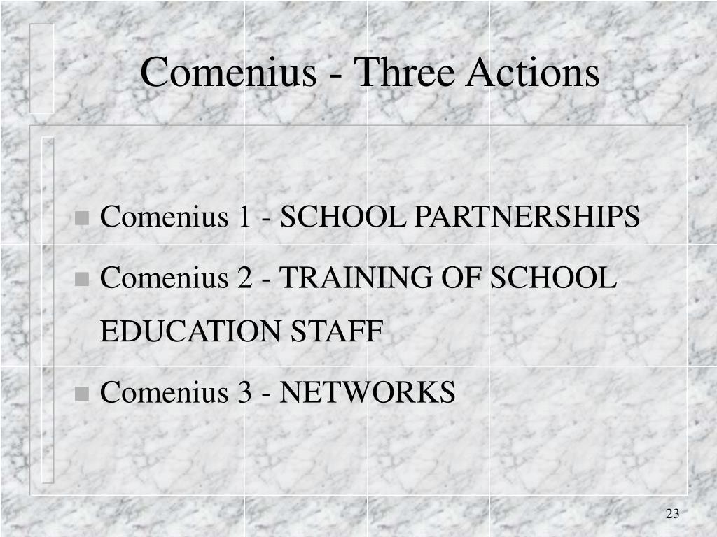 Comenius - Three Actions