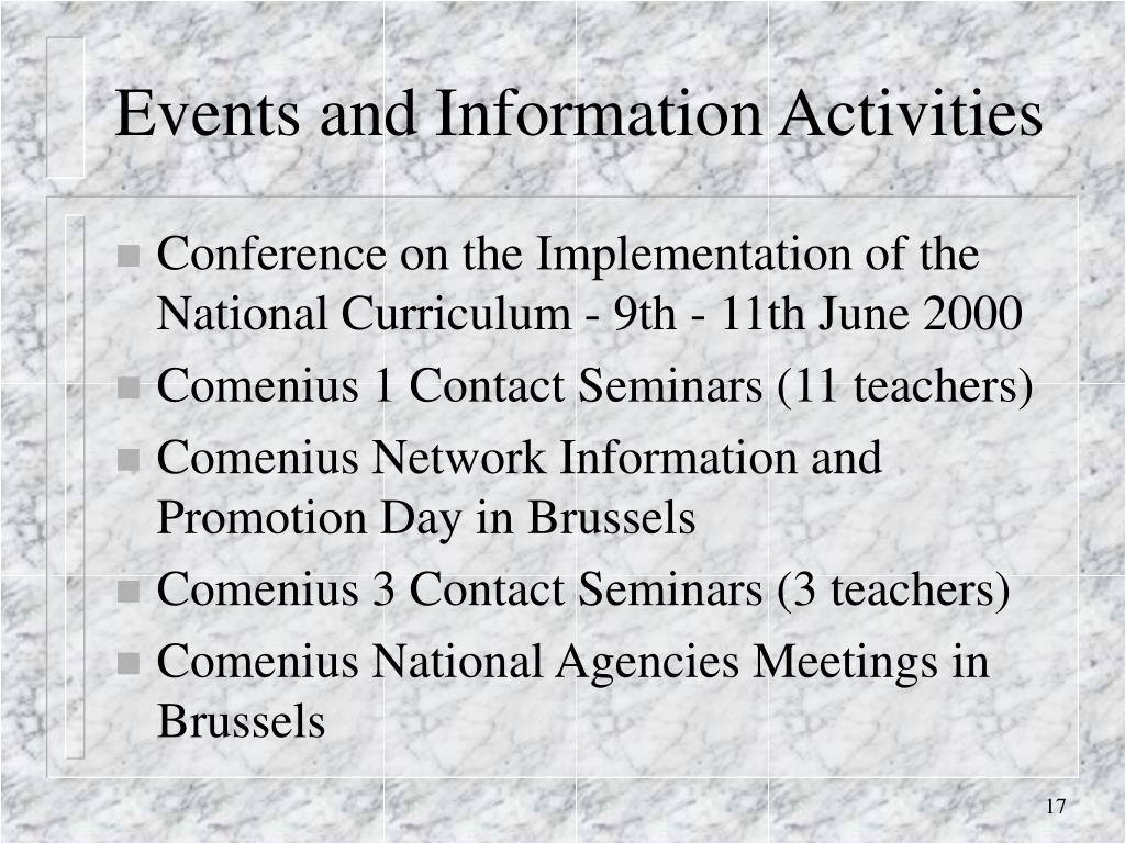 Events and Information Activities
