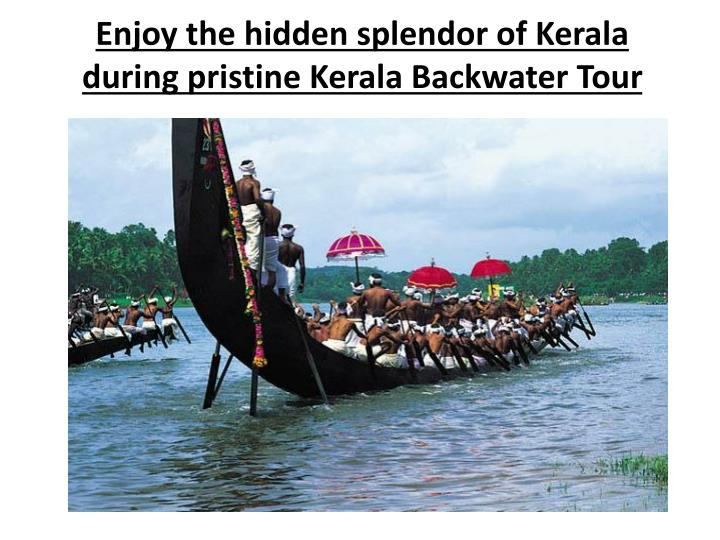 Enjoy the hidden splendor of kerala during pristine kerala backwater tour