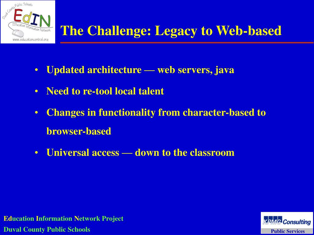 The Challenge: Legacy to Web-based