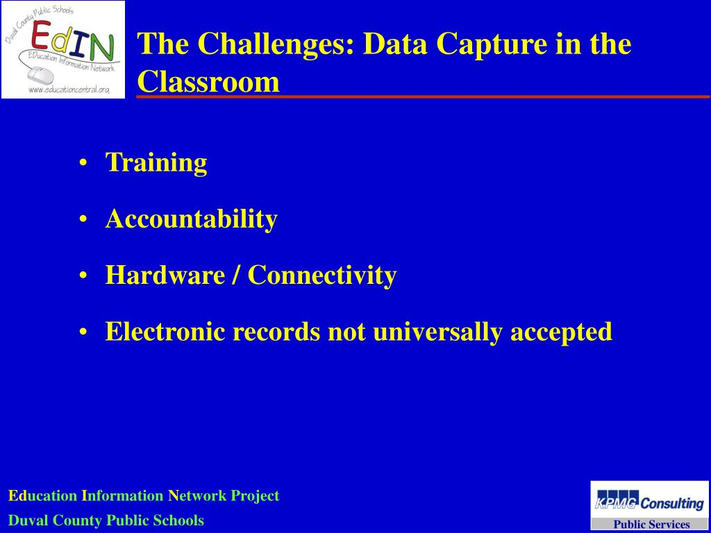The Challenges: Data Capture in the Classroom