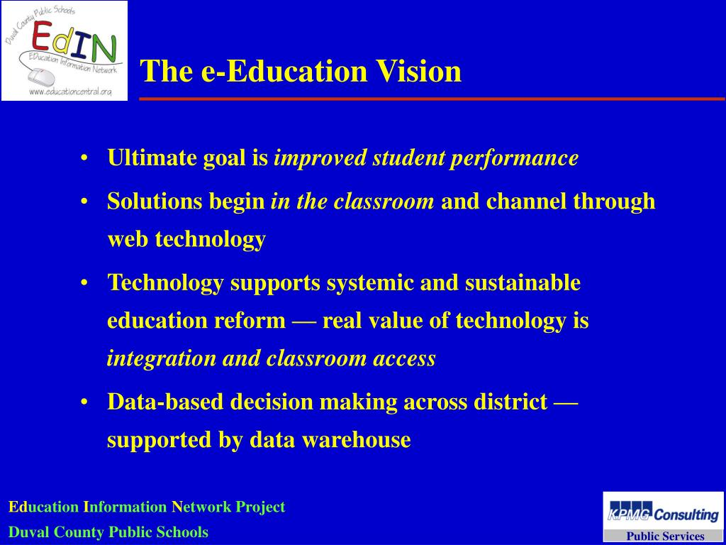 The e-Education Vision
