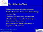 the e education vision