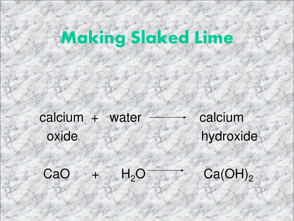 Making Slaked Lime