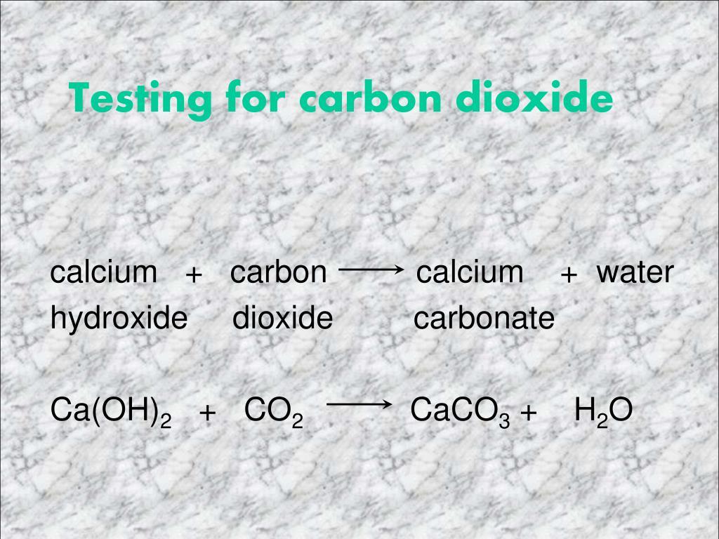 Testing for carbon dioxide