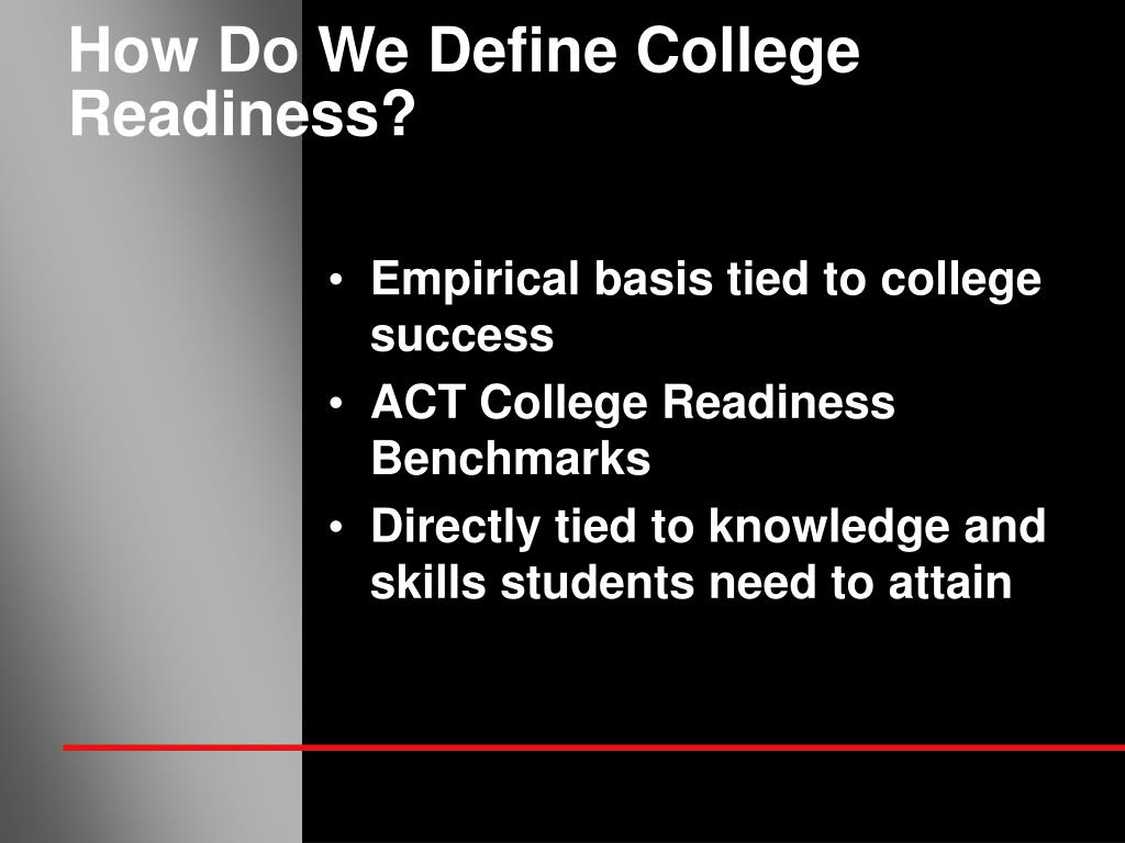 How Do We Define College Readiness?