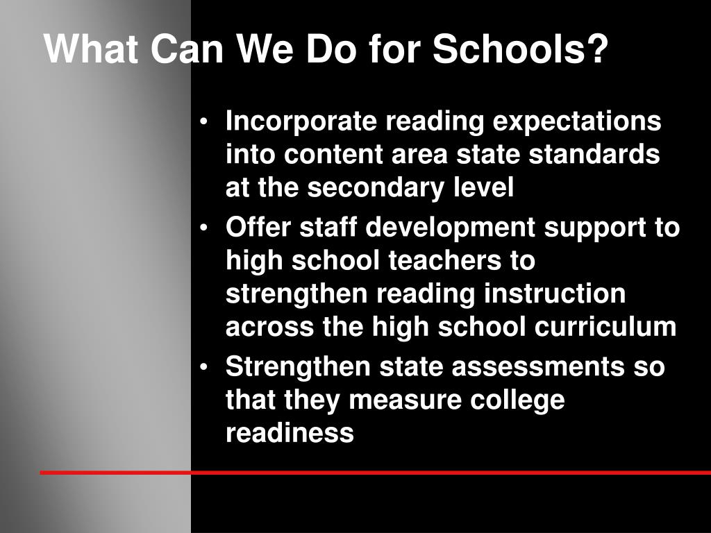 What Can We Do for Schools?