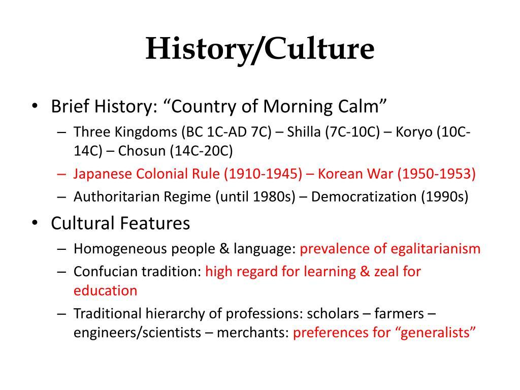History/Culture