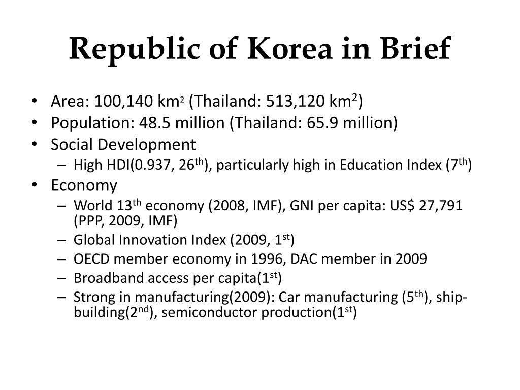 Republic of Korea in Brief