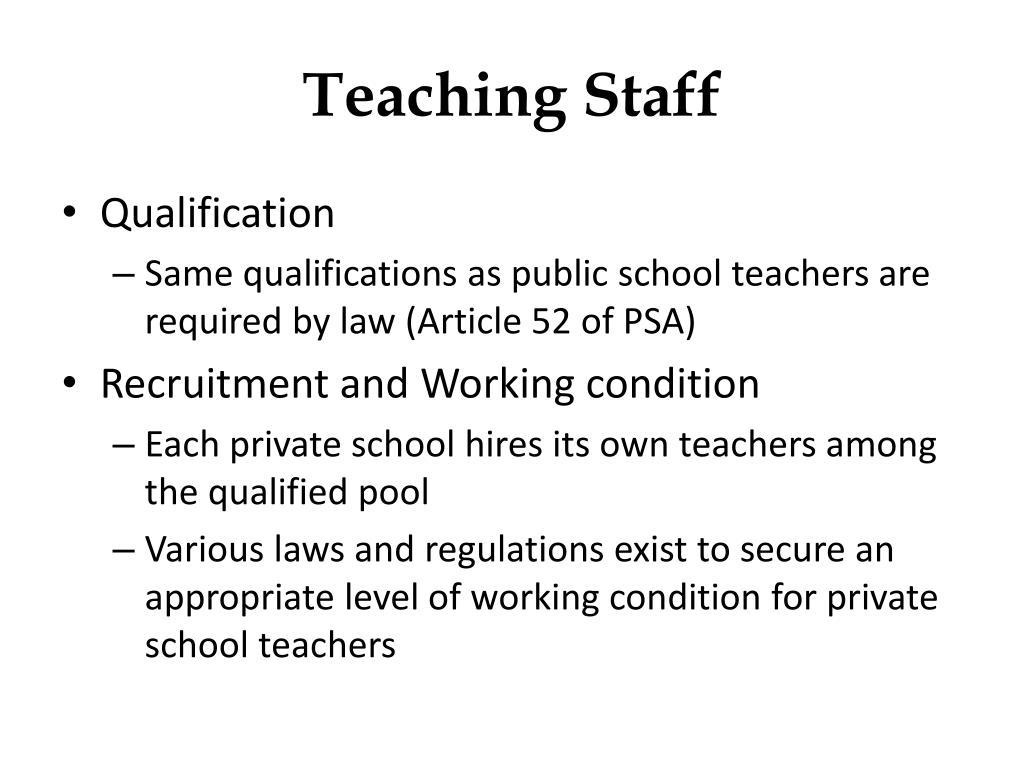 Teaching Staff