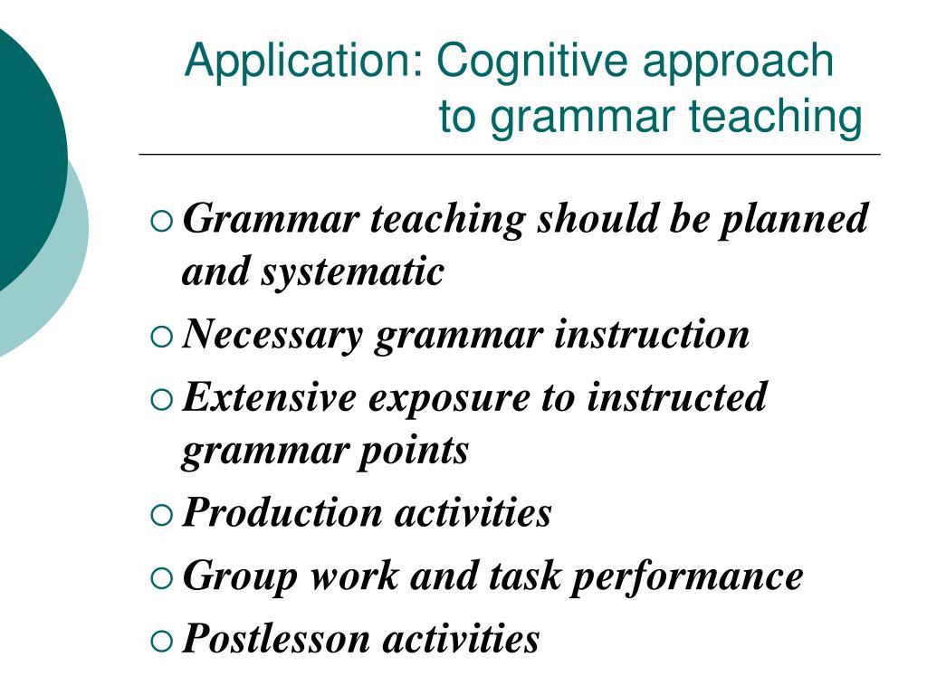 Application: Cognitive approach