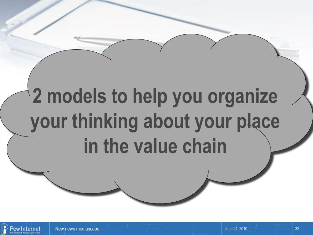 2 models to help you organize your thinking about your place in the value chain